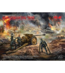 1:35 Битката при Курск (Юли 1943) (T-34-76 (началото на 1943), Pak 36(r ) с екипаж (4 фигури))