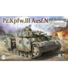 "1:35 Германски танк Panzer III Ausf N с ""schürzen"""