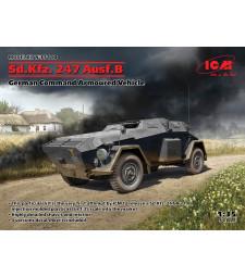 1:35 Sd.Kfz. 247 Ausf.B, Германски команден брониран автомобил (100% нови матрици)