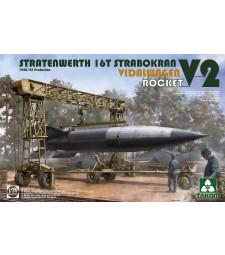 1:35 Фрийс кран Stratenwerth 16T Strabokran с ракетна Vidalwagen V2 Rocket