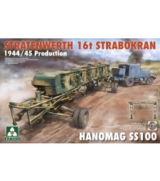 1:35 Фрийс кран Stratenwerth 16T Strabokra, производство 1944/45 Productionи влекач Hanomag SS100