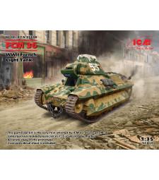 1:35 FCM 36, Френски лек танк от Втората световна война (100% нови матрици)