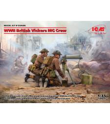 1:35 Британски екипаж на Vickers MG от Втората световна война (Vickers MG & 2 фигури) (100% нови матрици)