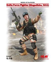 1:16 Делта форс боец , Могадишу, 1993 (Delta Force Fighter, Mogadishu, 1993) (100% нова отливка)