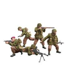 1:35 Британски парашутисти от Втората световна война в битка, комплект A