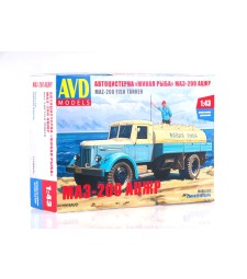 Live fish tanker ACZHR (MAZ-200), model kit