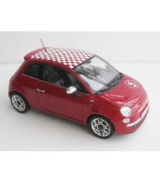 Fiat 500 sport rouge toit damier 2007