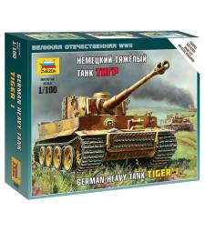 1:100 Германски тежък танк Tiger I - сглобка без лепило