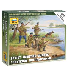 1:72 Съветски граничари - 4 фигури - сглобка без лепило