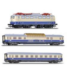 Пътнически влак с електрически локомотив E 10.12, DB, епоха III