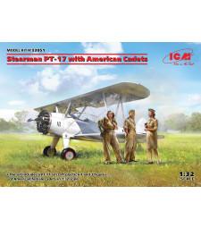 1:32 Самолет Stearman PT-17 с американски кадети
