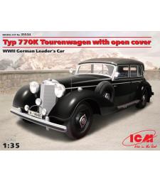 1:35 Автомобил на германски лидер Тип 770K Туристически автомобил с гюрук, Втора световна война