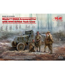 1:35 Брониран автомобил Модел T RNAS с британски танков екипаж, Първа Световна война