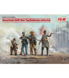 1:35 Американски пехотинци на Конфедерацията  (Юга), Американска гражданска война