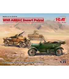 1:35 Пустинен патрул ANZAC, Първа Световна война (Модел T LCP, Помощен, Туристически автомобил)