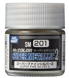SM-201 Mr. Color Super Metallic 2 - Super Fine Silver 2 (10ml)