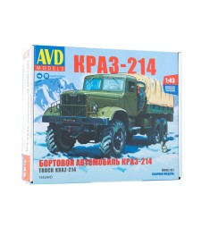KRAZ-214 flatbed truck - Die-cast Model Kit