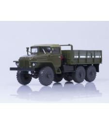 Ural-375 Flatbed Truck, Soft roof, Khaki