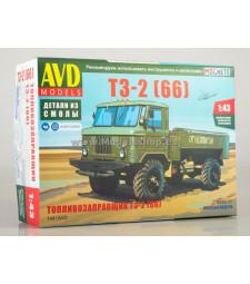 TZ-2 (GAZ-66) tanker truck - Die-cast Model Kit