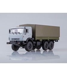 KAMAZ-53501 6x6 Flatbed Truck with Tent
