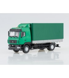 MAZ-5340 Flatbed Truck with Tent (Facelift), Green