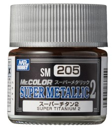 SM-205 Mr. Color Super Metallic 2 - Super Titanium 2 (10ml)