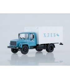 """GAZ-3307 Van Truck """"Bread"""", Blue-White"""
