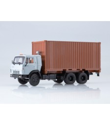 KAMAZ-53212 with 20ft. Container, White-Brown