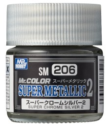 SM-206 Mr. Color Super Metallic 2 - Super Chrome Silver 2 (10ml)