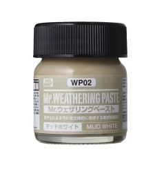 WP-02 Състаряваща паста: Бяла кал (Weathering Paste Mud White) (40ml)