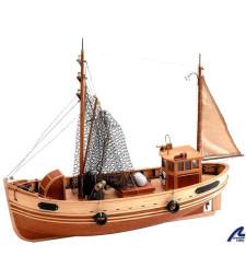 1:35 Катер Бремен (кораб за лов на раци) - Модел на кораб от дърво
