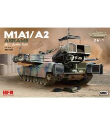 1:35 Американски танк М1А1/А2 Ейбрамс с пълен интериор и работещи вериги (M1A1/ A2 ABRAMS W/ FULL INTERIOR & WORKABLE TRACK LINKS)