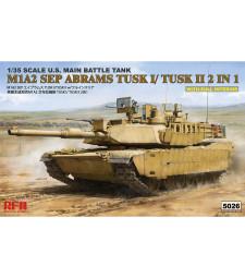 1:35 Американски танк М1А2 TUSK I/TUSK II, с пълен интериор (M1A2 TUSK I/ TUSK II WITH FULL INTERIOR)