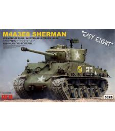 1:35 Американски танк Шеридан М4А3Е8 с работещи вериги (SHERMAN M4A3E8 W/ WORKABLE TRACK LINKS)
