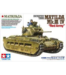 1:35 Британски пехотен танк Матилда MkIII/IV, Червена армия (Matilda MkIII/IV Red Army) - 2 фигури
