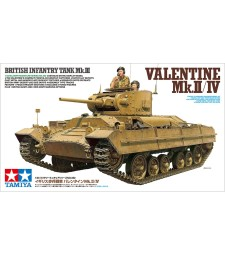 1:35 Британски пехотен танк Valentine Mk.II/IV - 2 фигури
