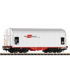 Товарен вагон с брезент на Shimmns Rail Cargo, Австия, епоха VI
