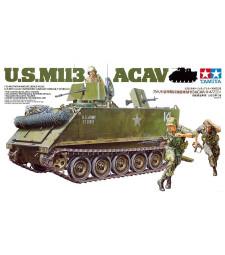 1:35 Военна машина на САЩ M113 ACAV - 3 фигури