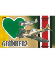 1:72 Германски изтребител Фокевулф Фв 190А (Grunherz DUAL COMBO - Fw 190A) - Специално издание от два модела