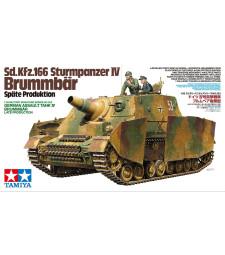 1:35 Германскo самоходнo пехотнo оръдие 150 mm Sd.Kfz.166 Sturmpanzer IV Brummbar, късна версия - 2 фигури