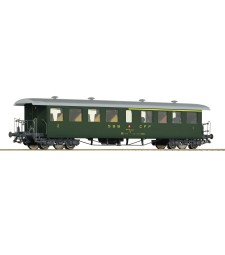 Passenger car 1./2. Class ABi of the Swiss Federal Railways, epoch IV
