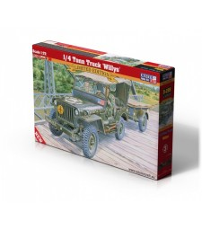 1:72 Американски военен автомобил 1/4 тона Willys (1/4 Tonn Truck Willys)