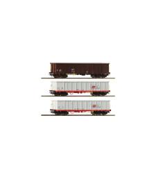 Комплект от 3 товарни вагона тип гондола, OBB, епоха VI