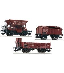 Комплект от три вагона, съвместими с E 69 05 (сериен номер 430002), DRB, епоха II