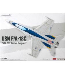 """1:72 Американски изтребител USN F/A-18C """"VFA-192 GOLDEN DRAGONS"""