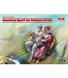1:24 Американски автомобилни състезатели (1910 г.) (1 мъжка, 1 женска фигура) (100% нови отлички)