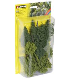 Смесена гора - 10 бр. дръвчета 10 - 14 cm