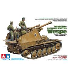 "1:35 Германско самоходно оръдие Howitzer Wespe ""Italian Front"" - 4 фигури"