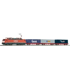 Стартов сет с локомотив  BR 189 и 3 вагона за контейнериmb, NS, епоха V