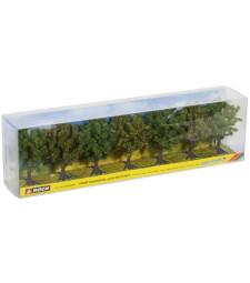 Плодни дървета - зелени - 7 бр. (8 cm)